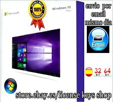 WINDOWS 10 PRO - 32/64 BITS - ESPAÑOL - 100% LEGAL - CLAVE DE LICENCIA ORIGINAL