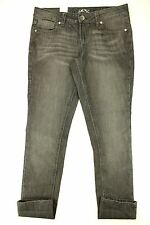 LEI Women SKINNY Jeans Size 9 Juniors Black Distressed Wash
