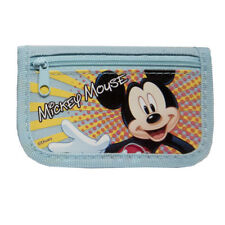 New Disney Mickey Mouse Licensed TriFold Wallet Light Blue