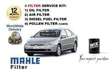 FOR CITROEN C5 2.2 HDi 2004-  SERVICE KIT OIL AIR FUEL POLLEN ( 4 ) FILTER KIT