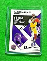 LEBRON JAMES A HELPING HAND IN HOLLYWOOD CARD LAKERS 2019-20 PANINI CHRONICLES
