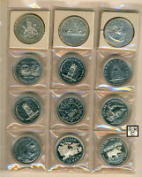 Canada cased Dollars collection set of 12 coins from 1971-1985 (OOAK)