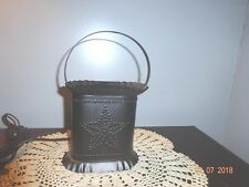 NEW PUNCHED BARN STAR OVAL ELECTRIC WAX WARMER BRONZE