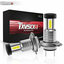 Pair H7 LED Headlight Bulbs Conversion Kit Super High or Low Beam 30000LM 6000K