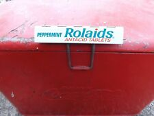 Vintage Rolaids Gum Candy Metal Sign MINT NOS GAS OIL SODA DOOR PUSH COLA NR!
