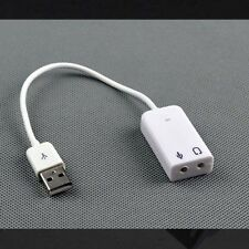 USB2.0 AUDIO SOUND CARD ADAPTER CABLE 3D VIRTUAL 7.1CH Win7 8 32 64 Linux Mac OS