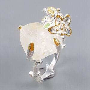 gemstone jewelry Blue Topaz Ring Silver 925 Sterling  Size 7 /R172345