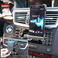 Car Dash Air Vent Clip-On Mobile Phone Mount Holder for Sony Xperia S LT26i