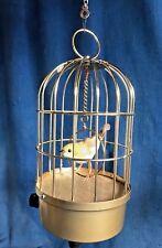 Vintage Saezuri Transistor Singing Bird in Cage Decoration Garden Ornament 1950s