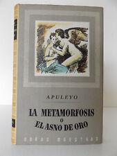 1946 La METAMORFOSIS o El ASNO de ORO BY Lucio Apuleyo SPANISH Edition OCCULT