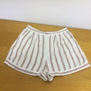 Joie Carvel Stripe Shorts Color PORCELAIN $179 #54