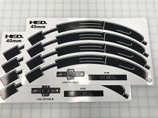 HED. 40mm Jet 4 wheel BLACK replacement Decal/Sticker Set of 8 for 2 wheels