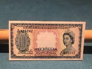 Malaya and British Borneo 1953 $1