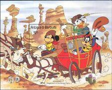 Antigua 1985 Disney/Mickey/Stagecoach/Mark Twain/Writers/Cartoons 1v m/s n26743a