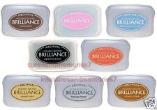 BRILLIANCE Archival Pigment Ink Pads- SET OF 8 INK PADS GOLD SILVER BLACK COPPER