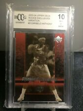 2003-04 Upper Deck Rookie Exclusives Variation Carmelo Anthony #3 BCCG 10