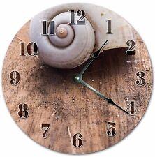 "10.5"" SNAIL SHELL CLOCK - Living Room Clock - Large 10.5"" Wall Clock - 4032"