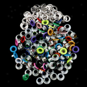 100x Eyelets Buckle Rivet for Leathercraft Scrapbooking Embellishment 4.5mm