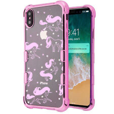 "For iPhone XS Max 6.5"" Fuchsia Pink Chrome Unicorn Diamond Protector Case Cover"