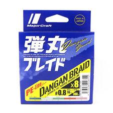 Major Craft Dangan Braided Línea X8 300m P.E 0.8 Multi DB8-300/0.8MC/16lb (6314)