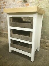 SUMMER SALE Rustic Solid Pine Freestanding Kitchen Centre Island Butchers Block