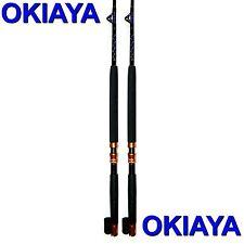 OKIAYA COMPOSIT 30-80LB SALTWATER BIG GAME ROLLER ROD Set of 2