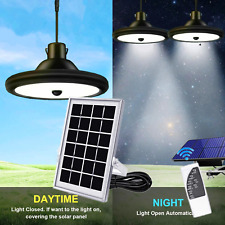 Solar Power Pendant Lights Garage Shop Lamp Indoor Outdoor Shed Barn Gazebo IPX6