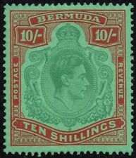 Bermuda 1946 10s. deep green & dull red / green (emerald back), MH (SG#119d)