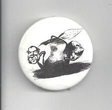 1968 NIXON & HUMPHREY CAMPAIGN b/w CARTOON BUTTON - POISON APPLE