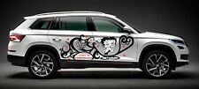 BETTY BOOP DECAL GRAPHIC VINYL w TRIBAL DESIGN FOR SIDE OF CAR