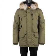 PARAJUMPERS Parka Daunenjacke Jacke RIGHT HAND LIGHT Pelz Army Grün Khaki 08906