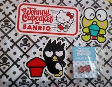johnny cupcakes x sanrio hello kitty badtz maru keroppi stickers and cupcake pin