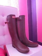 HUNTER ORIGINAL BACK ADJUSTABLE RAIN BOOTS  SZ:10