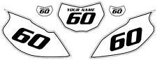 1997-2005 Yamaha TTR600 Pre-Printed White Backgrounds Black Pinstripe