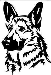 German Shepherd/Alsatian GSD Dog Car,Van Window Sticker  Large