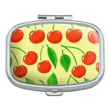 Cute Cherry Pattern Sketchy Rectangle Pill Case Trinket Gift Box