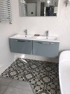 Ex Display bathroom double sink vanity unit