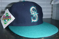 Seattle Mariners New Era 59FIFTY Vintage Pro Model Fitted Wool Hat Size 7 1/4