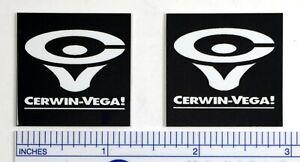 CV Cerwin Vega Speaker Badge Logo Emblem Square with Text PAIR Free Shipping