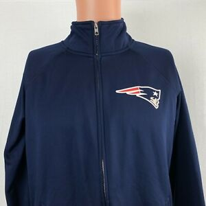Victoria Secret Pink New England Patriots Full Zip Track Jacket NFL Womens M