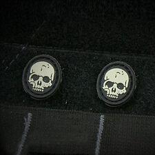2 PCS MINI Pirate SKULL Death Training USA ARMY 3D PVC MORALE BADGE PATCH