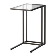 Ikea Vittsjo Laptop Stand Table - Side Table - Black/Brown Glass