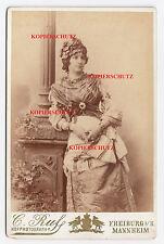 CDV Foto Portrait Frau Dame Schauspielerin Theater Kostüm Antike Tracht Schmuck