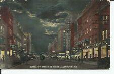 Allentown Lehigh Pennsylvania Hamilton Street View Trolley Elm NJ 1913 Postcard