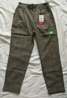 Stradivarius Women's Check Trousers Size S Small New With Tags
