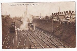 RAILWAY STRIKE AT LLANELLY AUG 1914