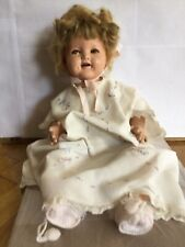 """RARE Vintage Ideal Baby Shirley Temple Doll 18"""" circa 1930s"""