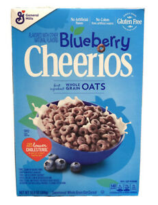 NEW BLUEBERRY CHEERIOS FLAVORED CEREAL 10.9 OZ BOX