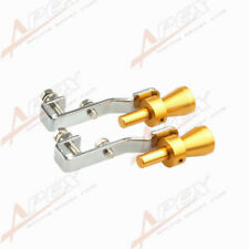 2PCS Universal Turbo Sound Exhaust Whistle/Fake Blowoff BOV Simulator Golden s A