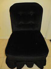 Vintage Black BOUDOIR Vanity Chair w/ Cover
